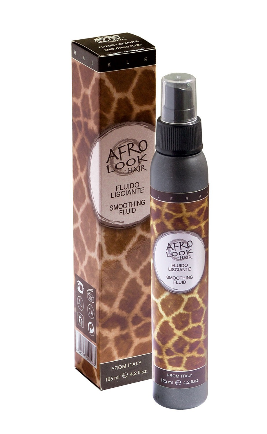 AFRO LOOK Smoothing fluid Leave-in/Glotninantis fluidas (žirafa), 125ml.